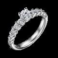 Dafné | Zásnubní prsten se středovým kamenem 0.25ct, bílé zlato, s diamanty