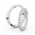 Zlatý dámský prsten DF 3903 z bílého zlata, s briliantem