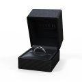 Zlatý dámský prsten DF 2953 z bílého zlata, smaragd s diamanty