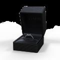 Zlatý zásnubní prsten DF 3098, bílé zlato, smaragd s diamanty