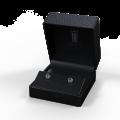 Smaragdové náušnice zlaté DF 3239, s diamantmi, biele zlato