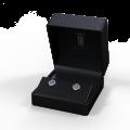 Zlaté dámské náušnice DF 3266, růžový safír s diamanty , bílé zlato