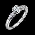 Zlatý zásnubní prsten DF 4558, bílé zlato, s diamantem