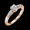 Sierra   Zásnubní prsten se středovým kamenem 0.25 ct, růžové zlato, s diamanty