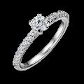 Aria | Zásnubní prsten se středovým kamenem 0.25 ct, bílé zlato, s diamanty