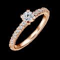 Zlatý zásnubní prsten DF 4570, růžové zlato, s diamantem