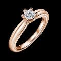 Zlatý zásnubní prsten DF 4582, růžové zlato, s diamantem