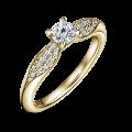 Zlatý zásnubní prsten DF 4606, žluté zlato, s diamantem
