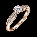 Zlatý zásnubný prsteň DF 4606, ružové zlato, s diamantom