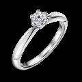Zlatý zásnubní prsten DF 4630, bílé zlato, s diamantem