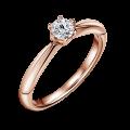 Minerva | Zásnubní prsten se středovým diamantem 0.25 ct, růžové zlato