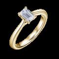 Arlene | Zásnubní prsten se středovým diamantem 0.730ct, žluté zlato