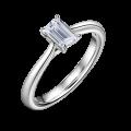 Zlatý zásnubní prsten DF 4638, bílé zlato, s diamantem