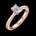 Arlene | Zásnubní prsten se středovým diamantem 0.730ct, růžové zlato