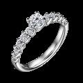 Zlatý zásnubní prsten DF 4646, bílé zlato, s diamantem