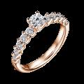 Zlatý zásnubný prsteň DF 4646, ružové zlato, s diamantom