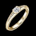 Harmonia   Zásnubní prsten se středovým kamenem 0.25ct, bílé zlato, s diamanty