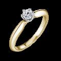 Mira | Zásnubní prsten se středovým kamenem 0.25ct, žluté zlato, s diamanty