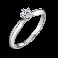Mira | Zásnubní prsten se středovým kamenem 0.25ct, bílé zlato, s diamanty