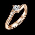 Zlatý zásnubní prsten DF 4682, růžové zlato, s diamantem