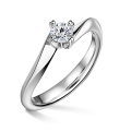 Zlatý zásnubní prsten DF 4694, bílé zlato, s diamantem