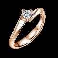 Zlatý zásnubní prsten DF 4694, růžové zlato, s diamantem