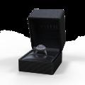 Zlatý dámský prsten DF 2888 z bílého zlata, safír s diamanty