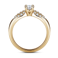 Luna | Zásnubní prsten se středovým kamenem 0.25 ct, žluté zlato, s diamanty