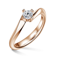 Freya | Zásnubní prsten se středovým diamantem 0.25ct, růžové zlato
