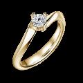Freya | Zásnubný prsteň so stredovým diamantom 0.25ct, žlté zlato