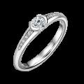 Harmonia   Zásnubný prsteň so stredovým kameňom 0.25ct, biele zlato, s diamantmi