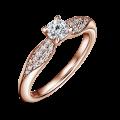 Luna | Zásnubný prsteň so stredovým kameňom 0.25 ct, ružové zlato, s diamantmi