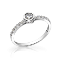 Zlatý dámsky prsteň DF 2803 z bieleho zlata, s briliantom