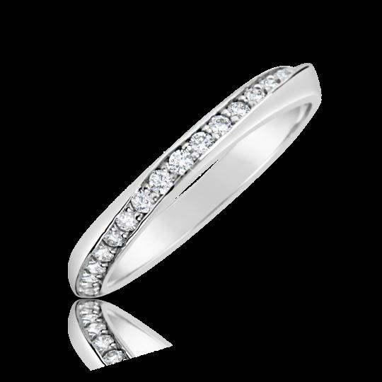 Zlatý dámsky prsteň DF 2927 z bieleho zlata s briliantmi