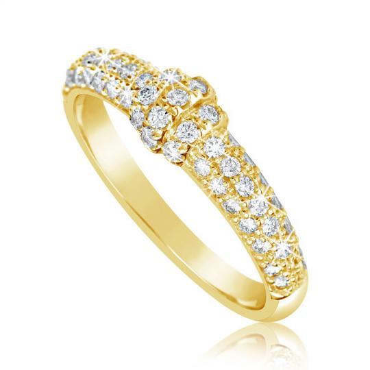 Zlatý dámsky prsteň DF 3190 zo žltého zlata, s briliantom