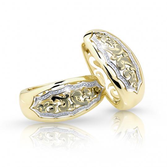 Zlaté dámské náušnice DF 2172, briliantové, žluté zlato