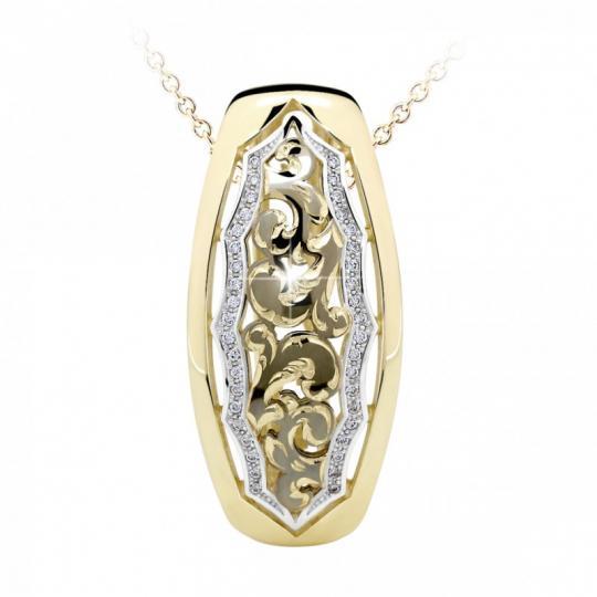 Zlatý dámský přívěsek DF 2171, žluté zlato, s briliantem