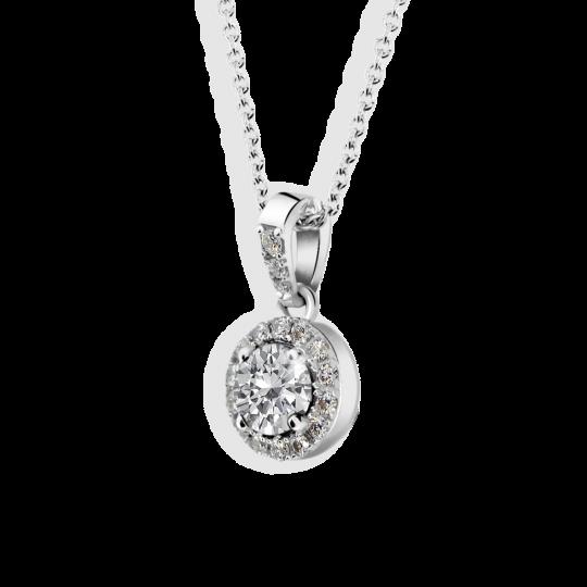 Zlatý dámský přívěsek DF 3099, bílé zlato, s diamantem