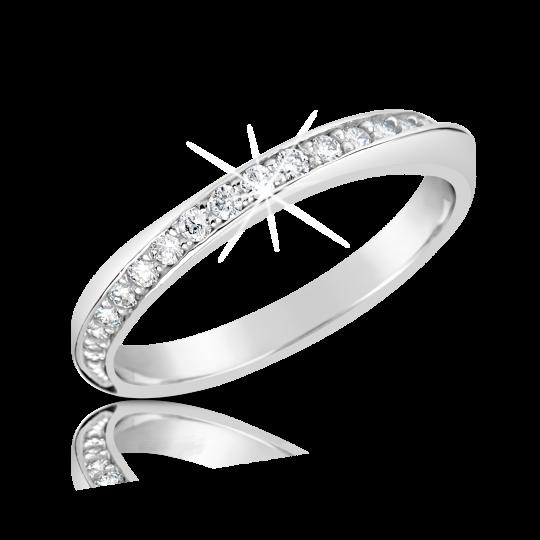 Zlatý dámský prsten DF 2928 z bílého zlata, s briliantem