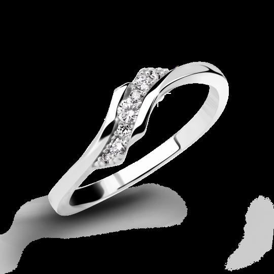 Zlatý dámský prsten DF 3051 z bílého zlata, s briliantem