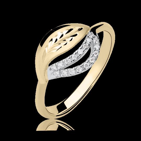 Zlatý dámský prsten DF 3115 ze žlutého zlata, s briliantem