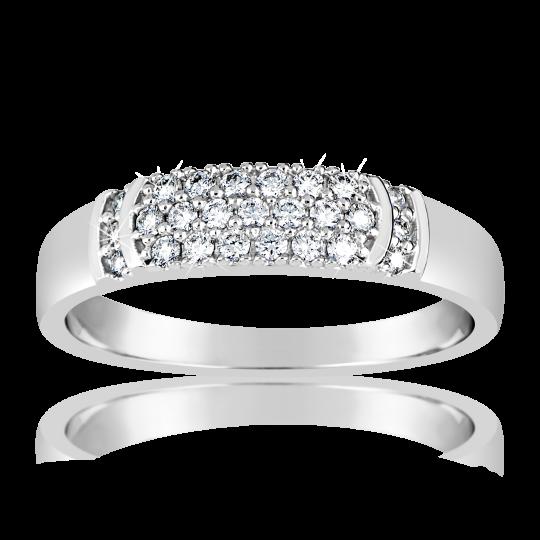 Zlatý dámský prsten DF 3192 z bílého zlata, s briliantem