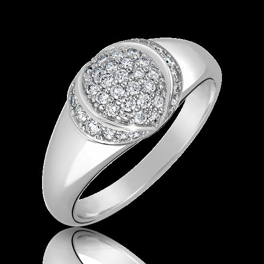 Zlatý dámský prsten DF 3193 z bílého zlata, s briliantem