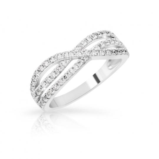 Zlatý dámský prsten DF 3199 z bílého zlata s brilianty