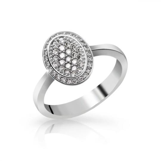 Zlatý dámský prsten DF 3203 z bílého zlata, s briliantem