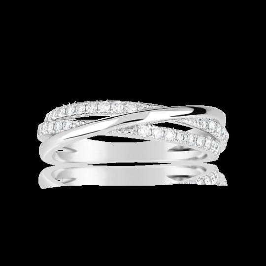 Zlatý dámský prsten DF 3254 z bílého zlata, s briliantem