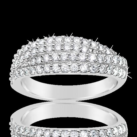 Zlatý dámský prsten DF 3350 z bílého zlata, s briliantem