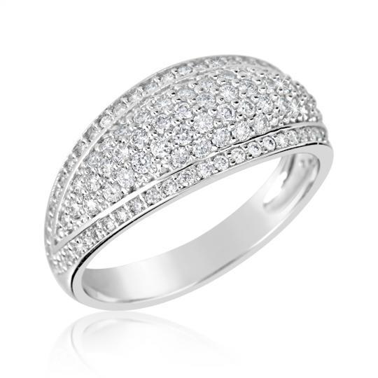 Zlatý dámský prsten DF 3353 z bílého zlata, s briliantem