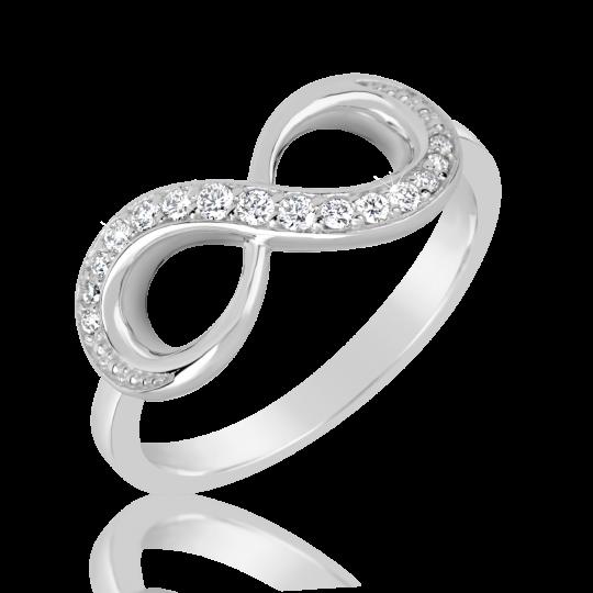 Zlatý dámský prsten DF 3440 z bílého zlata, s briliantem