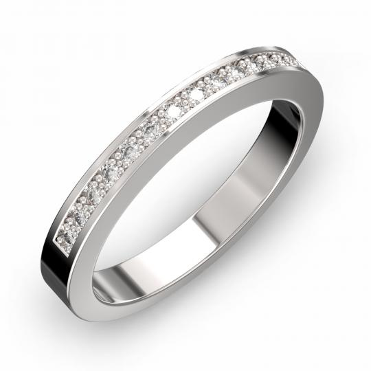 Zlatý dámský prsten DF 3664 z bílého zlata, s briliantem